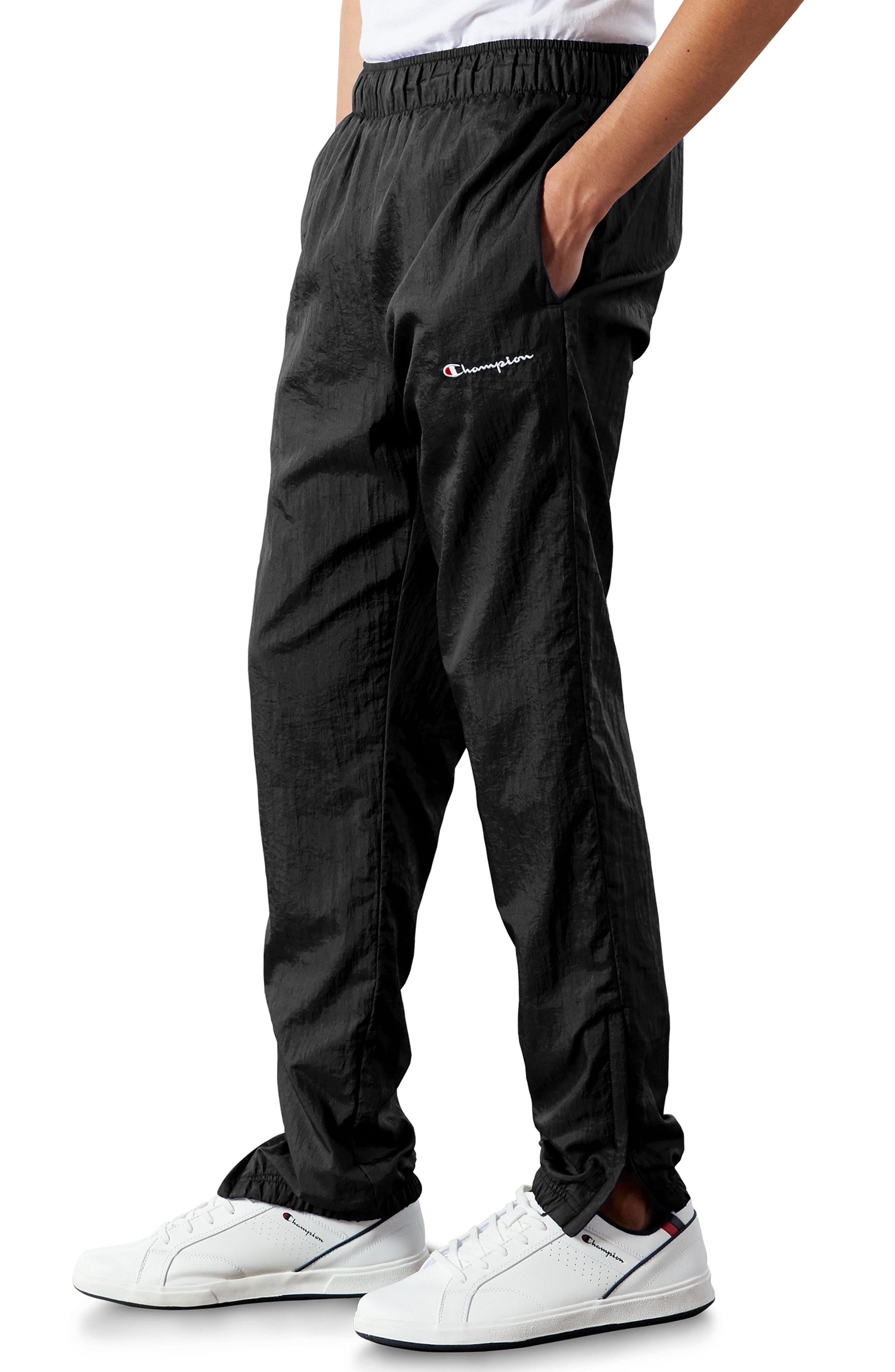 ,                             Nylon Warm-Up Pants,                             Alternate thumbnail 3, color,                             BLACK/ SILVER/ WHITE