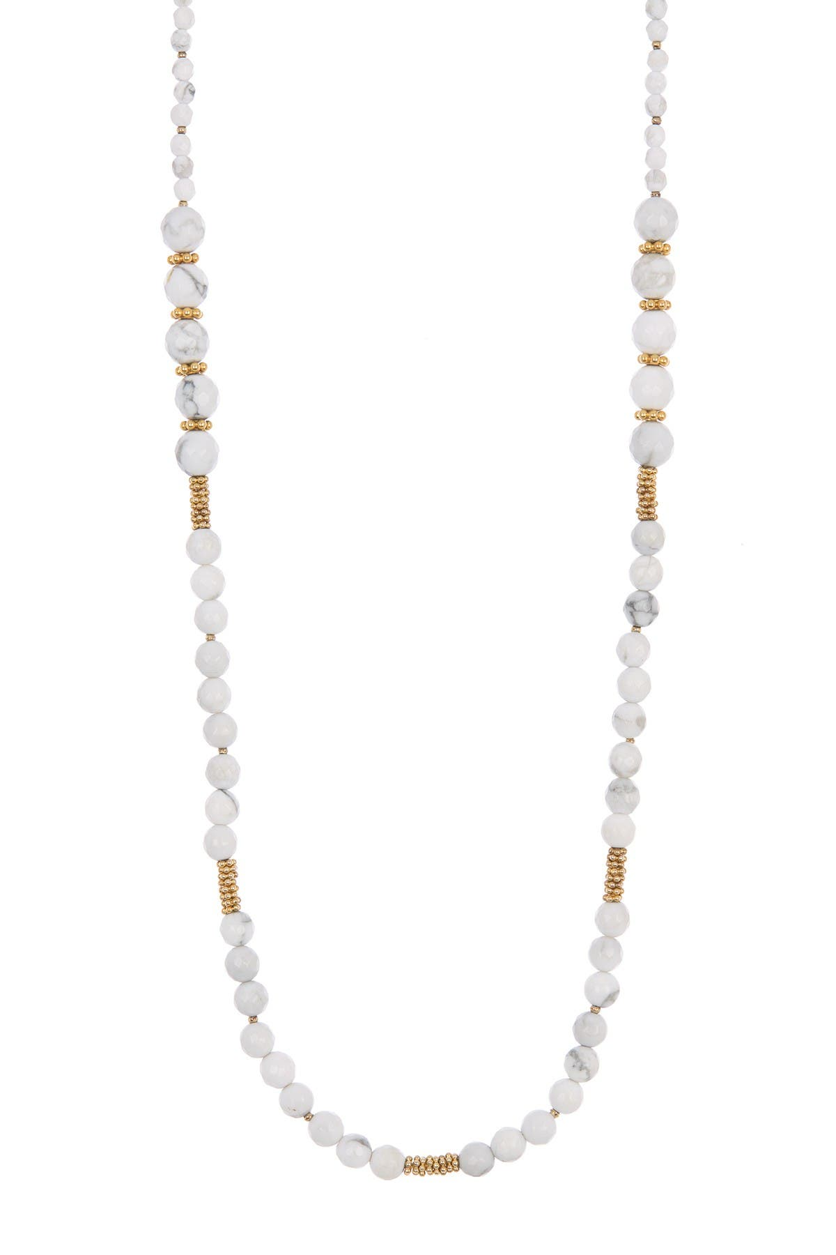 Image of Anna Beck 18K Gold Plated Sterling Silver White Howlite Beaded Necklace