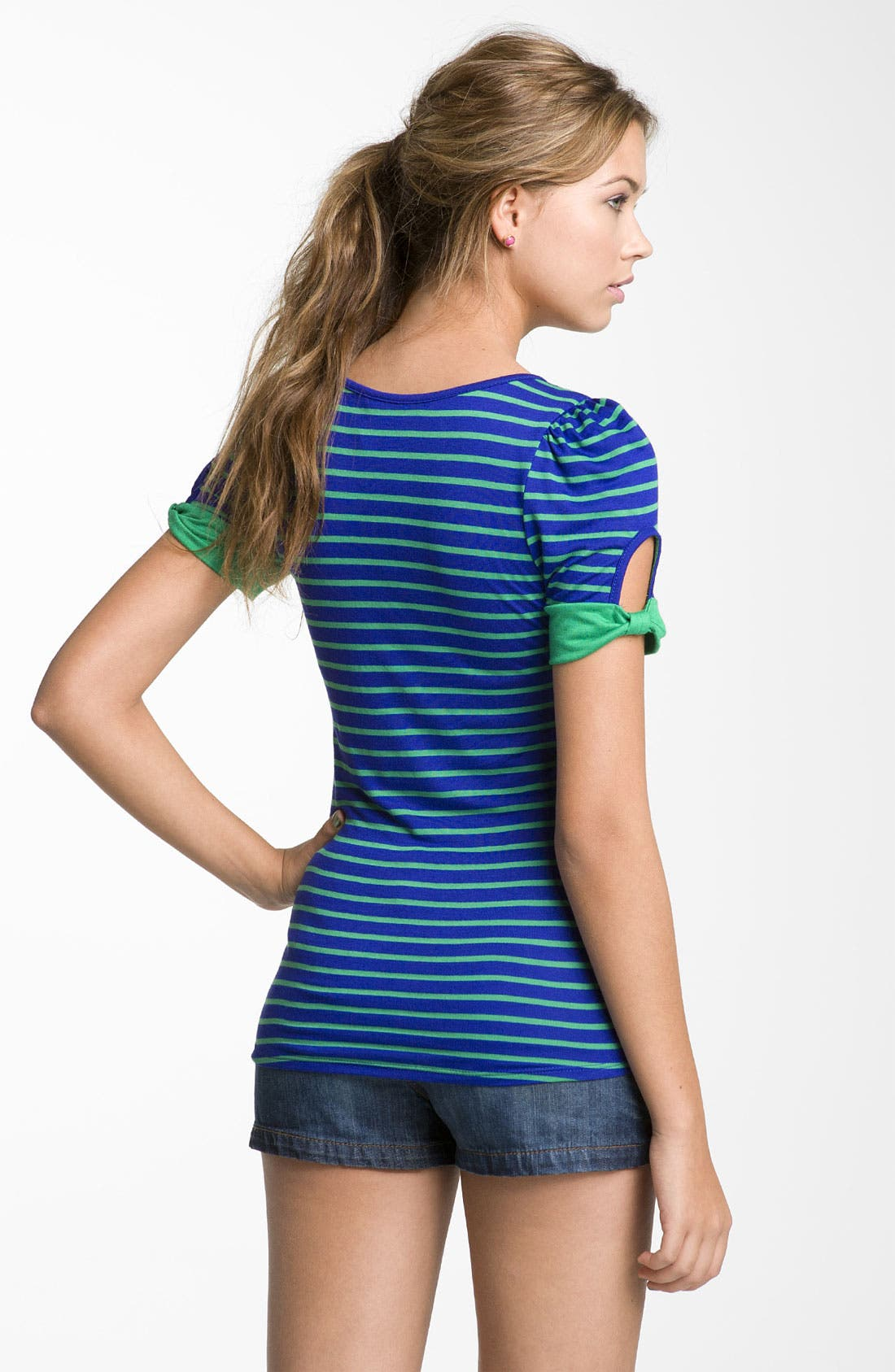 ,                             Cutout Sleeve Tee,                             Alternate thumbnail 6, color,                             445