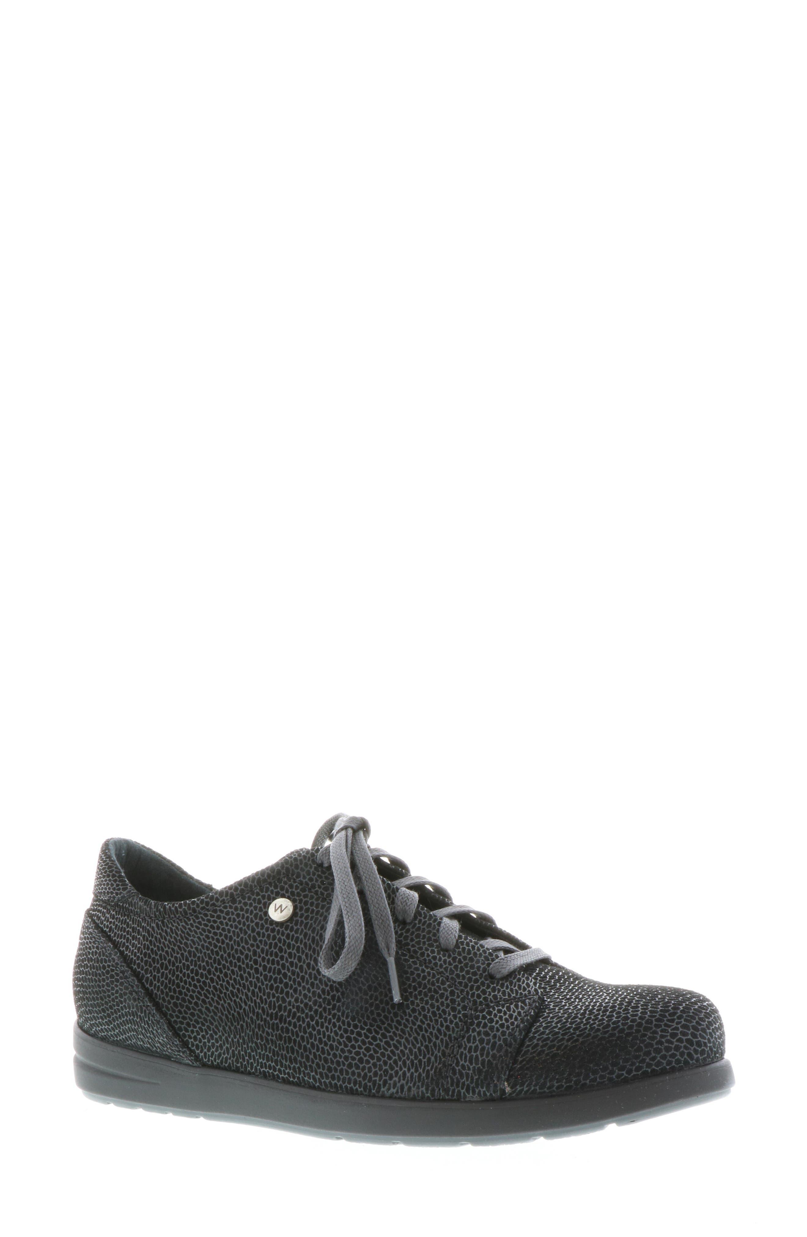 Kinetic Sneaker, Main, color, BLACK NUBUCK LEATHER
