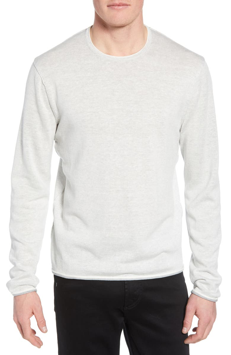 RAG & BONE Dean Slim Fit Crewneck Sweater, Main, color, IVORY