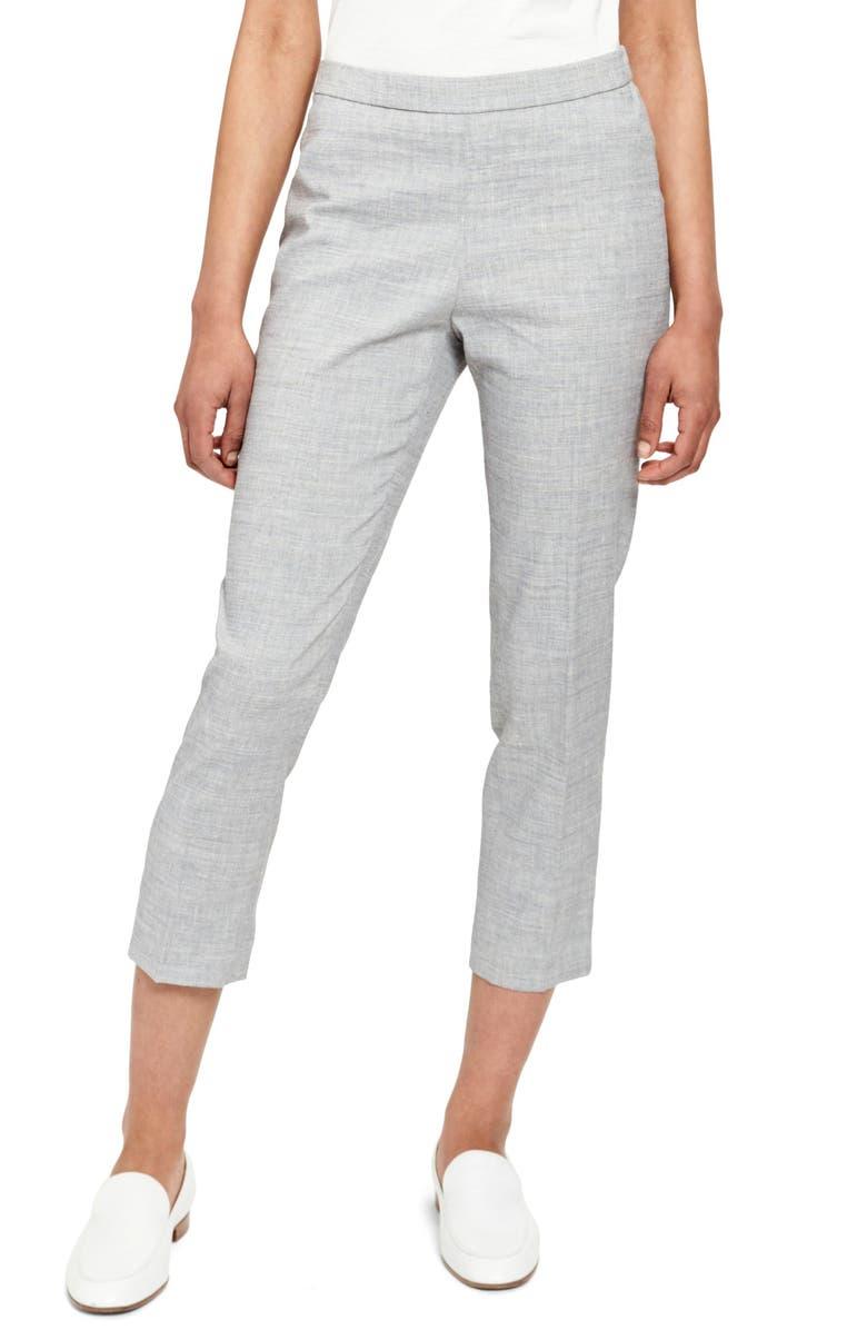 THEORY Crop Pants, Main, color, BLUET MELANGE