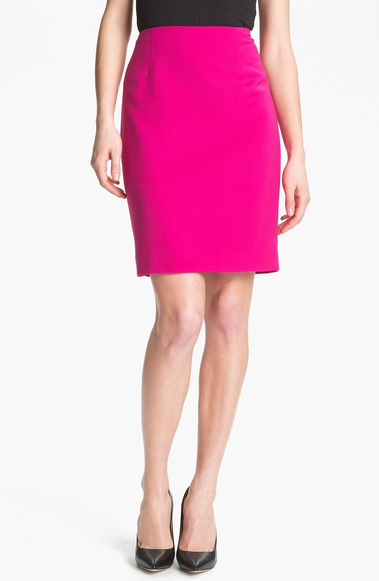 ANNE KLEIN Slim Skirt, Main, color, 660