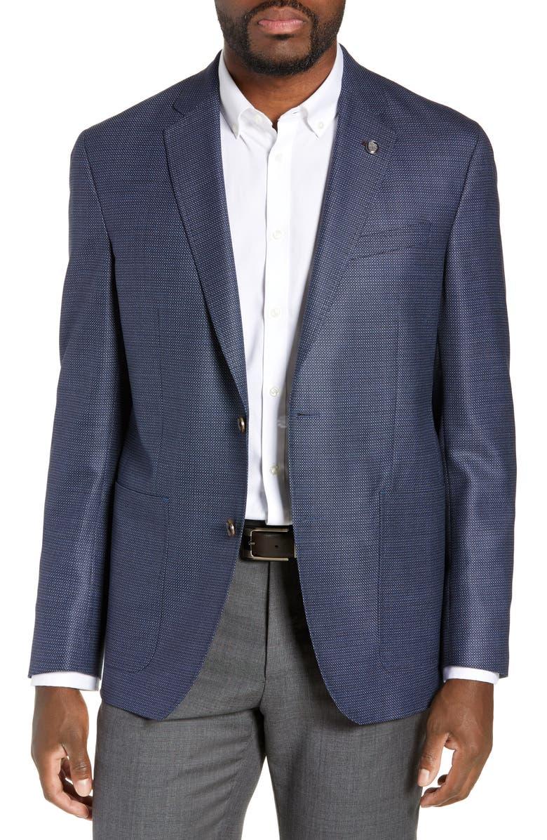 TED BAKER LONDON Kyle Trim Fit Wool Sport Coat, Main, color, 475