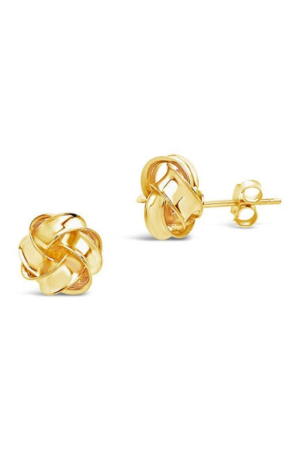 Image of Sterling Forever 14K Gold Sterling Silver Twisted Knot Stud Earrings