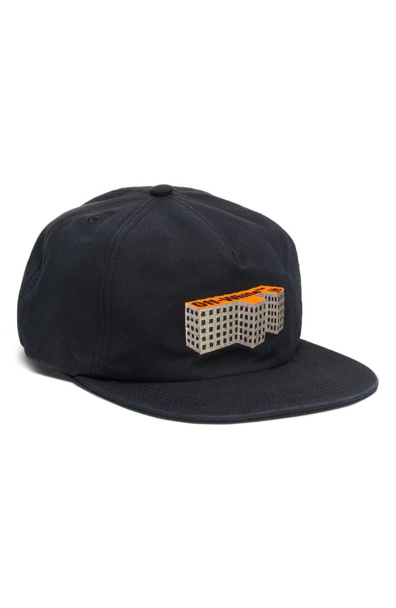 OFF-WHITE Building Baseball Cap, Main, color, BLACK MULTICOLOR