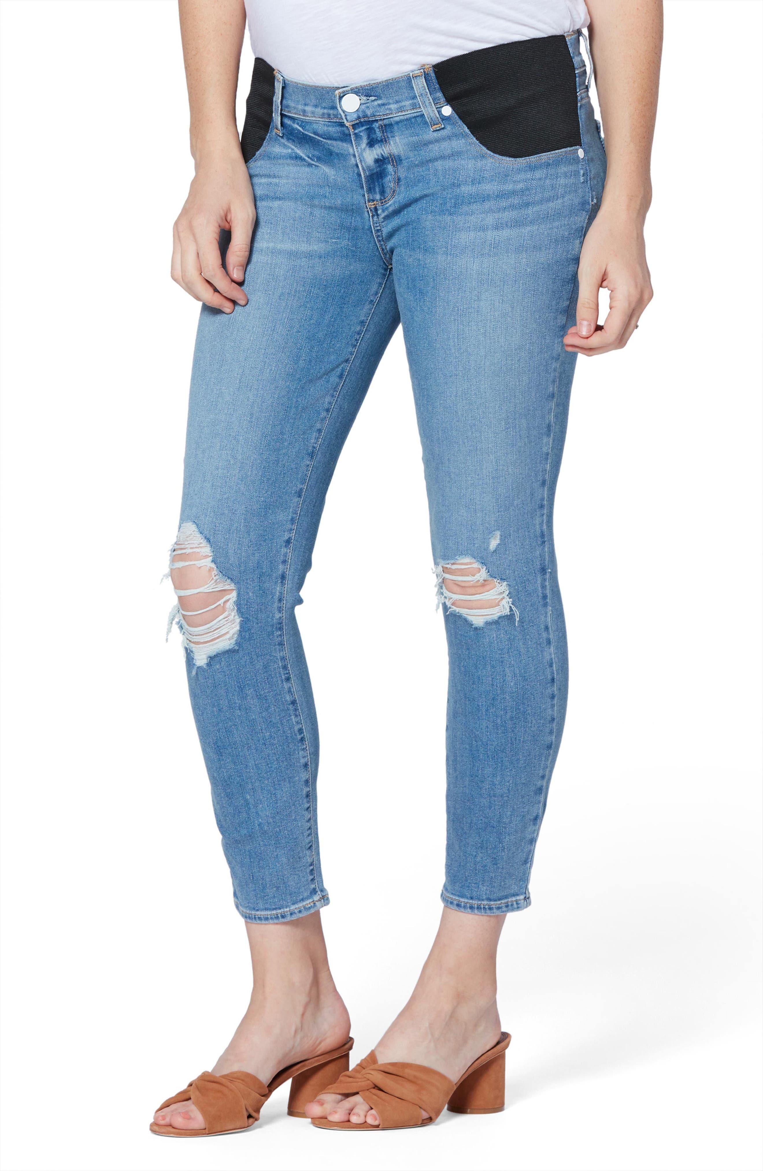 Women's Paige Verdugo Crop Skinny Maternity Jeans