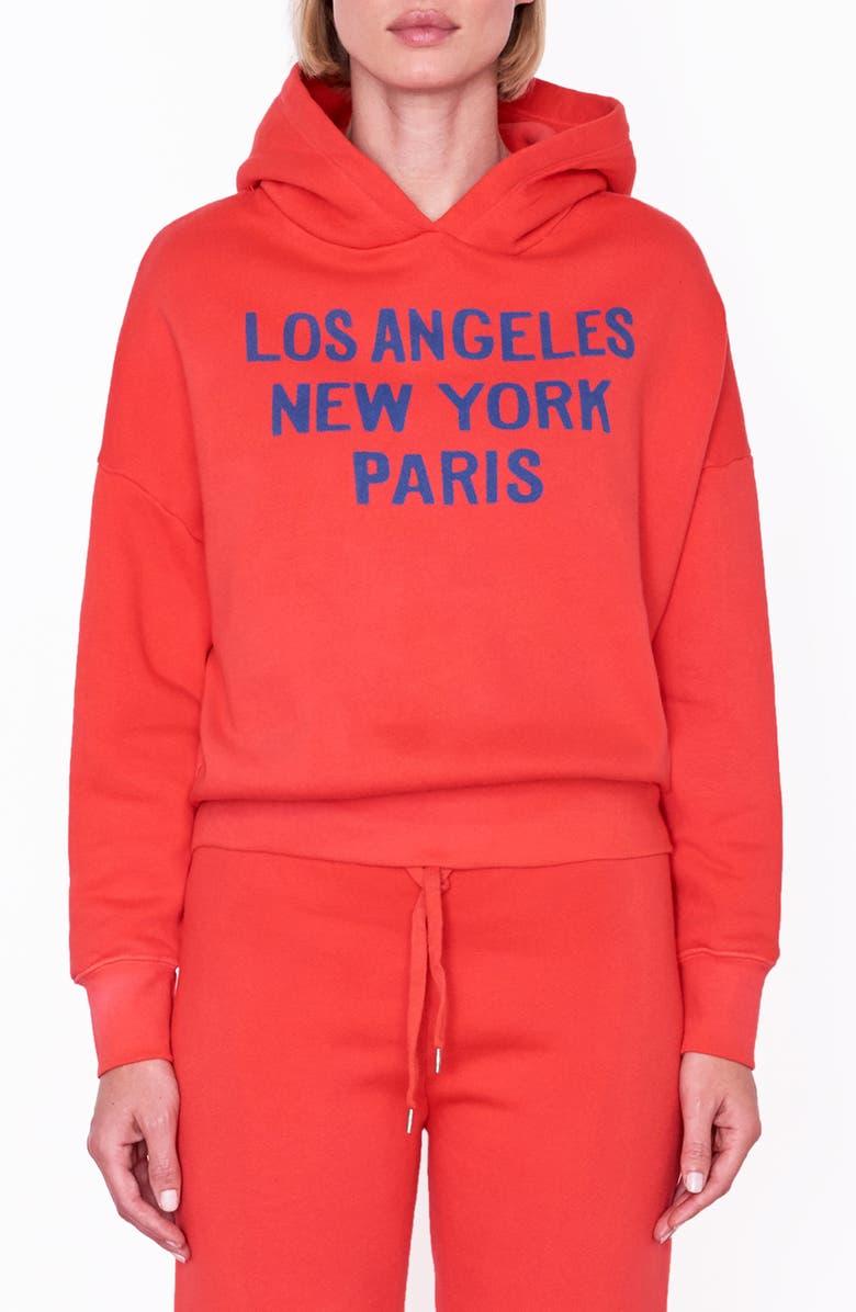 SUNDRY Cities Slouchy Hooded Sweatshirt, Main, color, 613