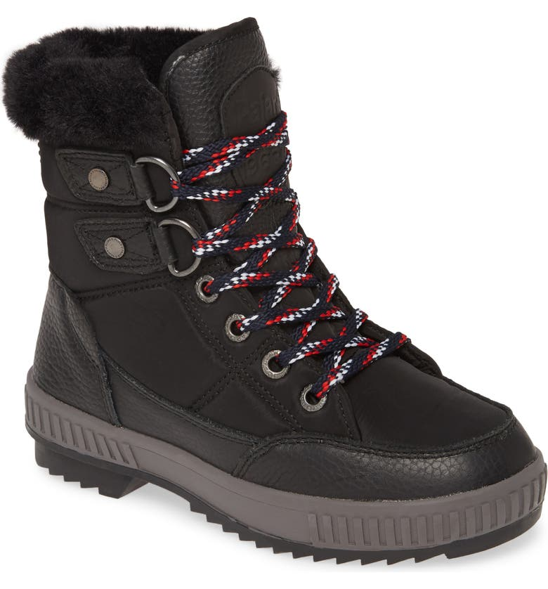 PAJAR Kamira Faux Fur Lined Waterproof Boot, Main, color, BLACK