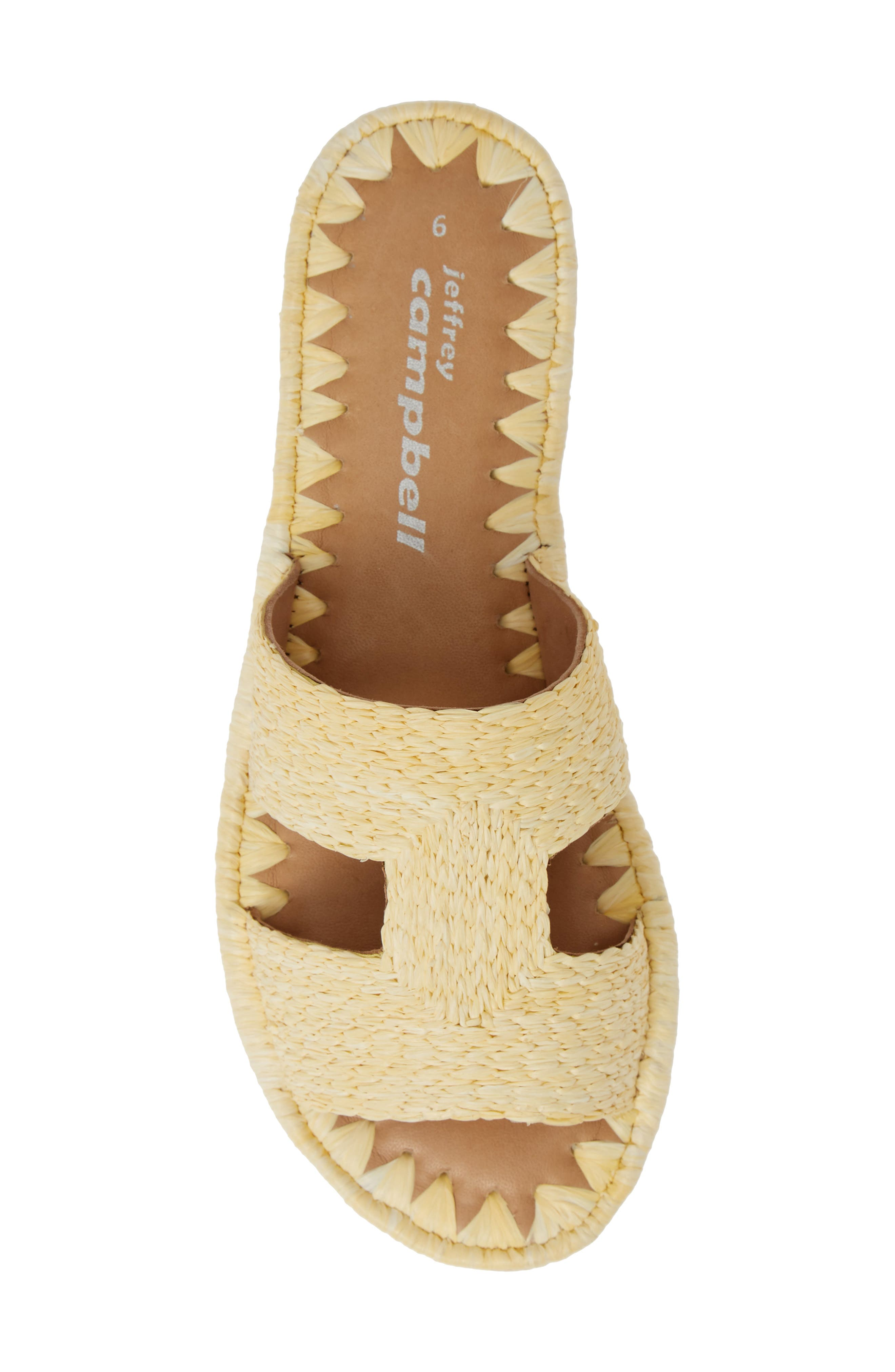 ,                             Ernon Raffia Slide Sandal,                             Alternate thumbnail 5, color,                             NATURAL