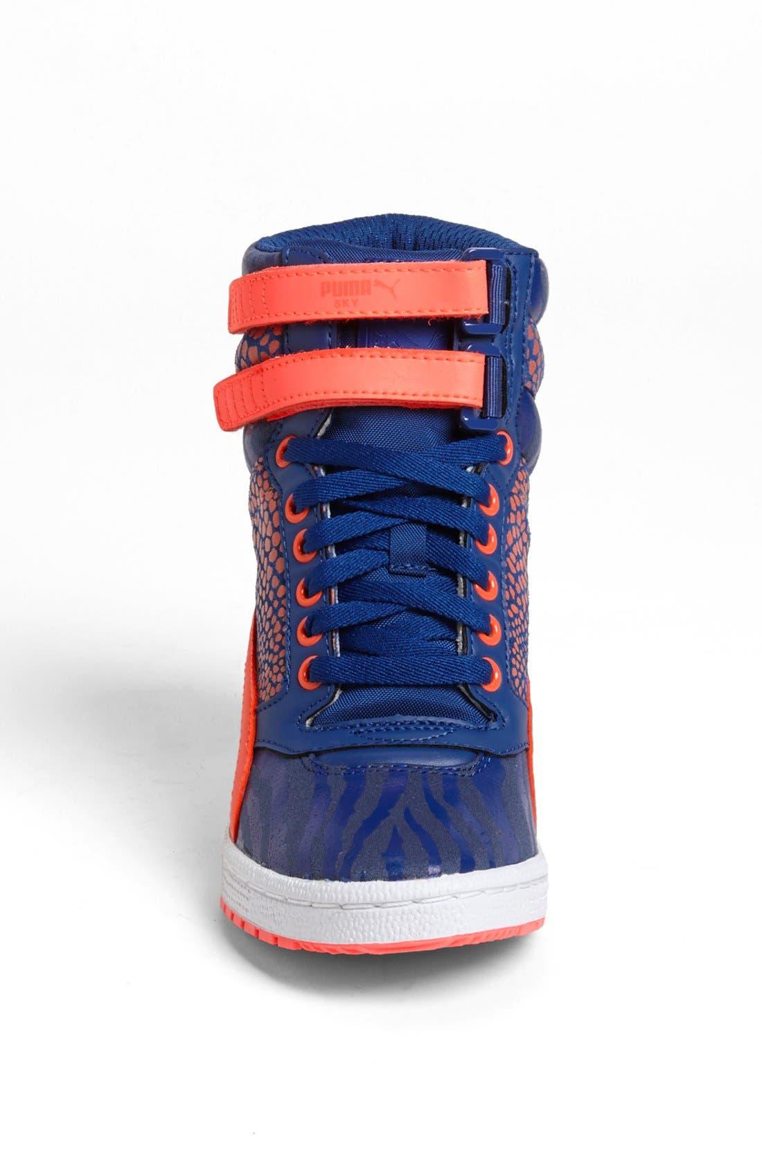 ,                             'Sky Wedge Reptile' Sneaker,                             Alternate thumbnail 6, color,                             460