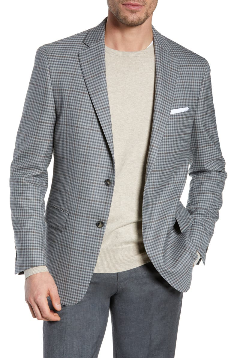 HART SCHAFFNER MARX Classic Fit Stretch Check Wool Sport Coat, Main, color, 050
