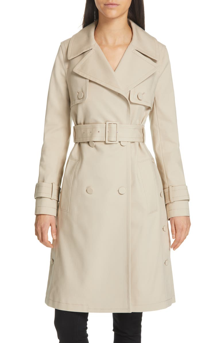 CLUB MONACO Janney Belted Trench Coat, Main, color, 250