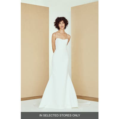 Nouvelle Amsale Millie Faille Mermiad Wedding Dress, Size IN STORE ONLY - Ivory