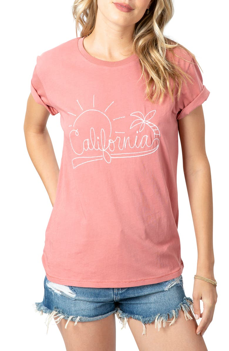 RIP CURL Cali Sunshine Boyfriend T-Shirt, Main, color, 650