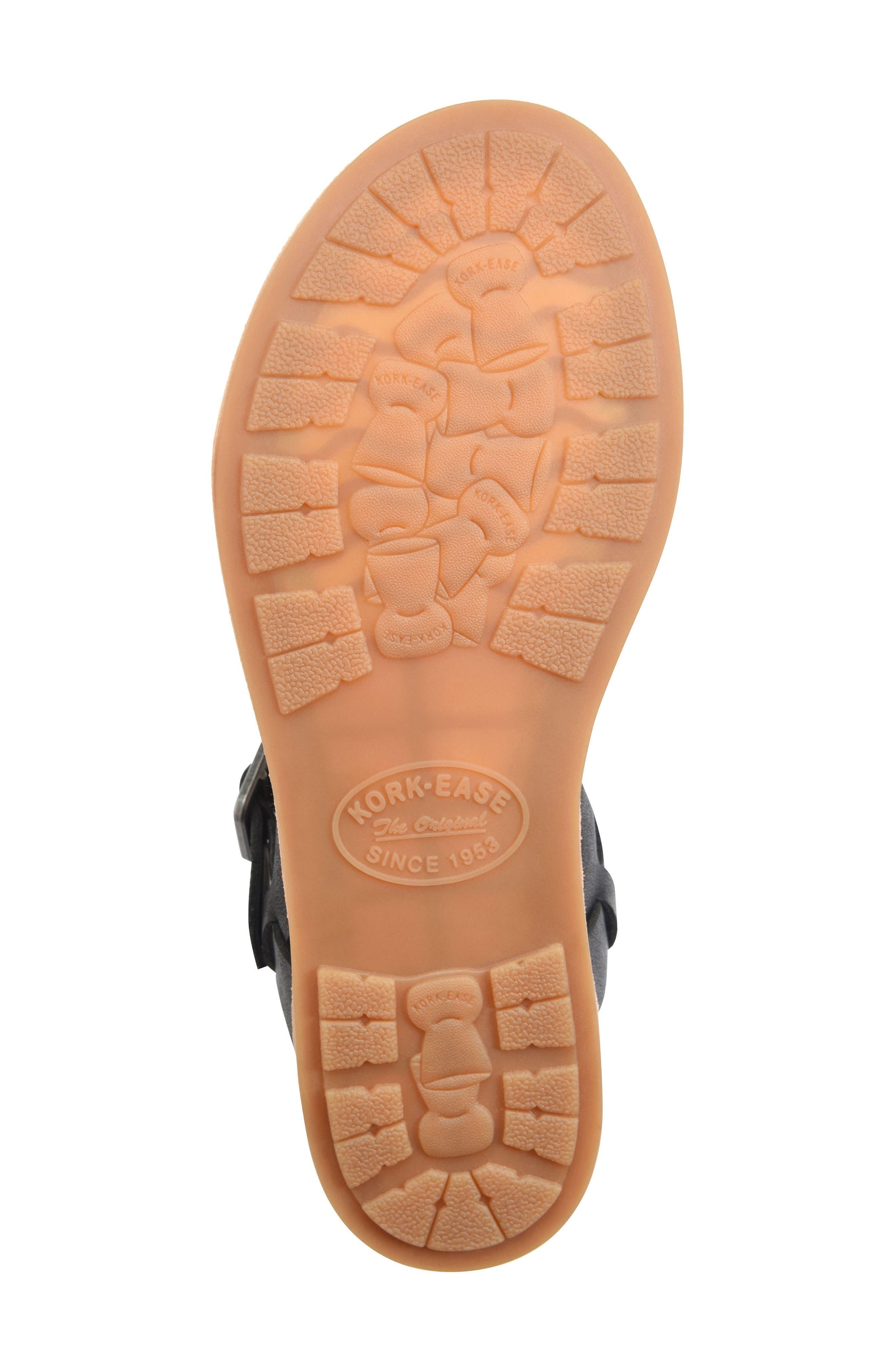 ,                             Yucca Braid Sandal,                             Alternate thumbnail 6, color,                             BLACK LEATHER
