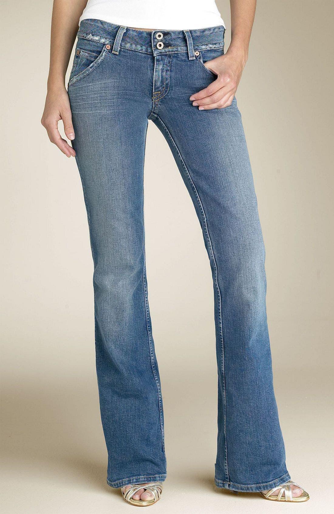 ,                             Signature Flap Pocket Bootcut Jeans,                             Main thumbnail 99, color,                             FVI