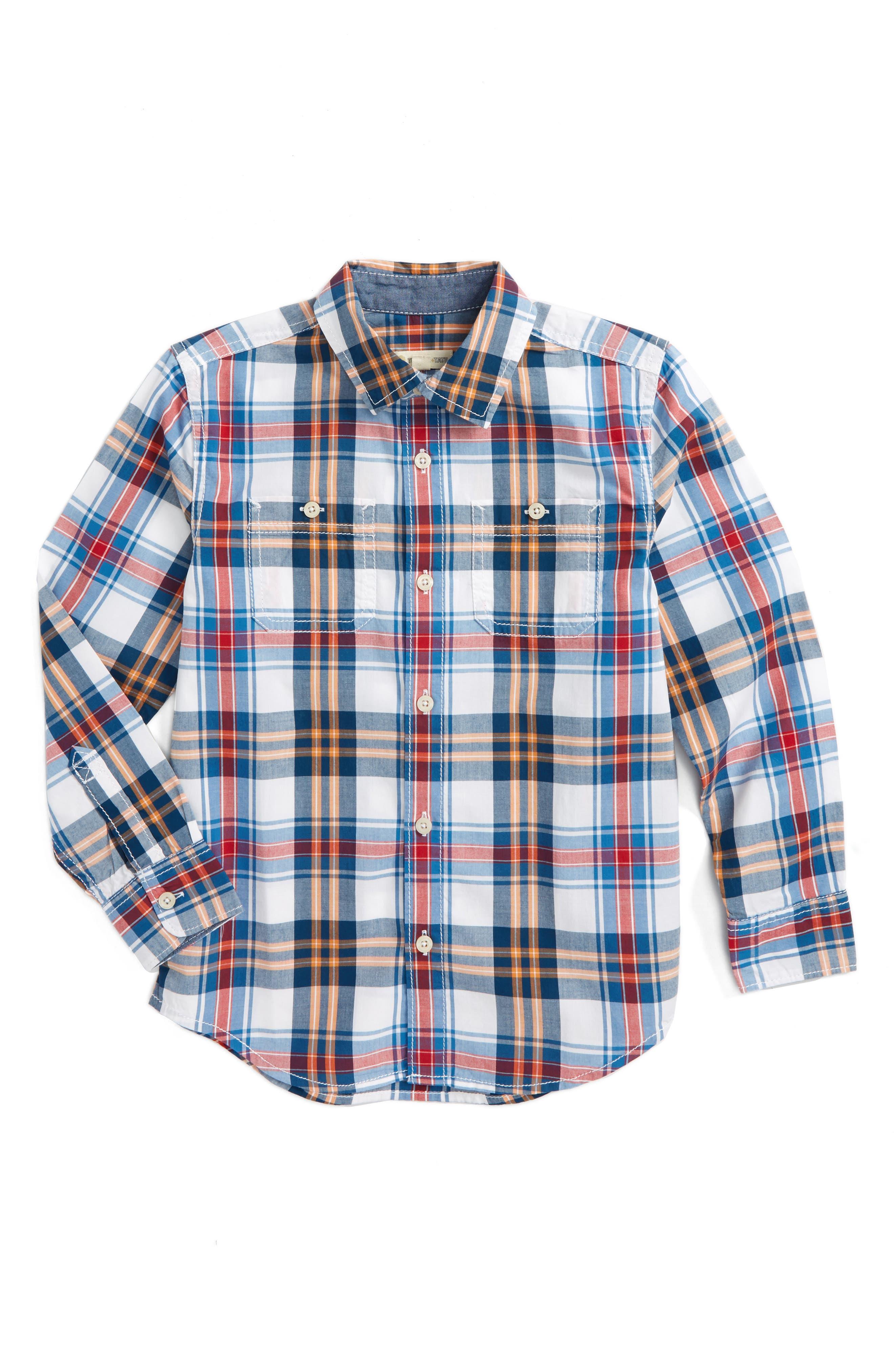 ,                             'Photo' Buffalo Plaid Woven Shirt,                             Main thumbnail 15, color,                             100