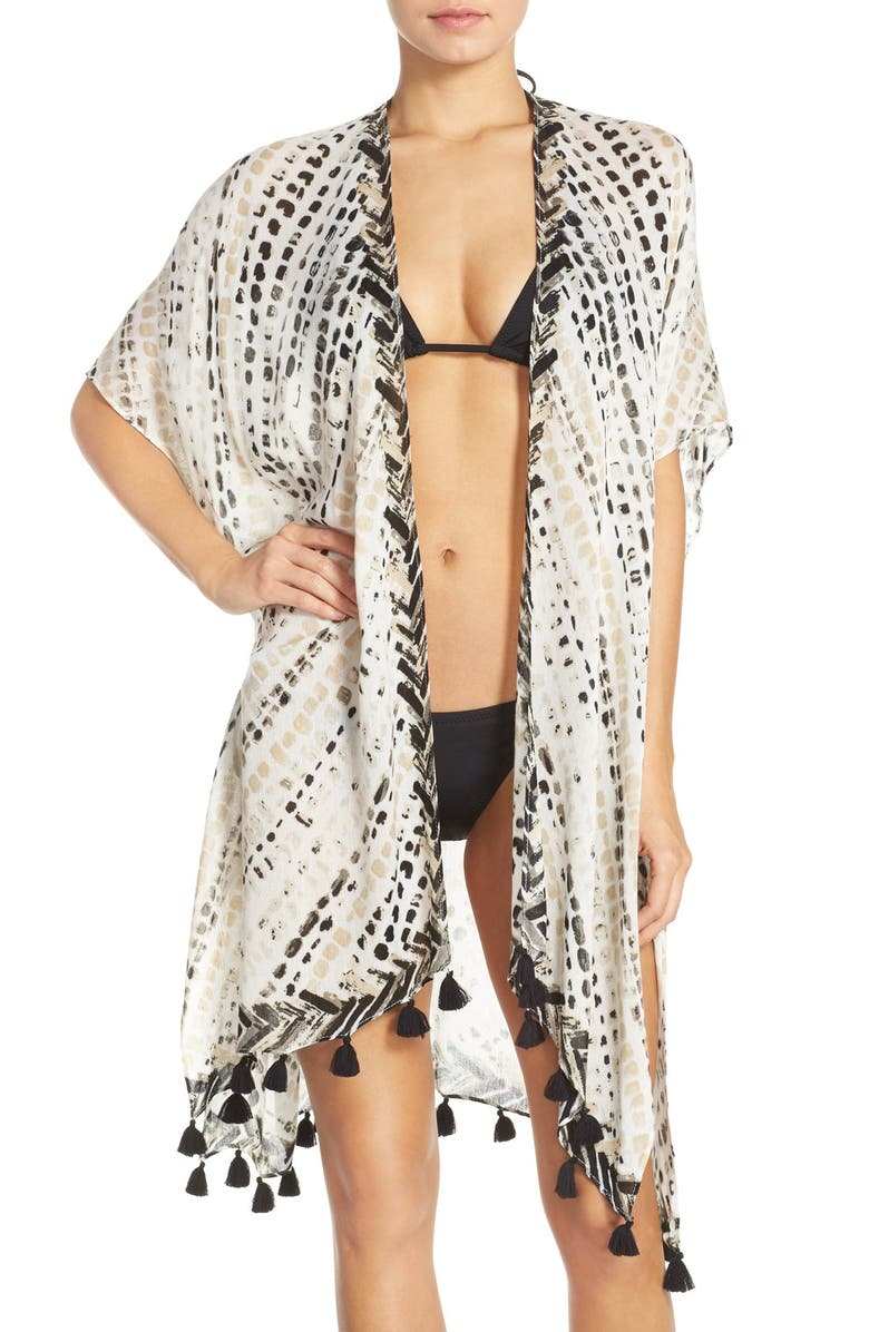 NORDSTROM 'Sunglow' Dot Print Cover-Up Kimono, Main, color, 050