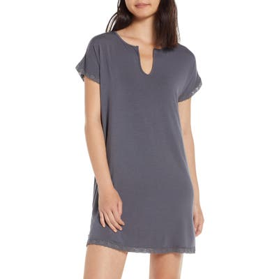 Barefoot Dreams Luxe Jersey Nightgown, Grey
