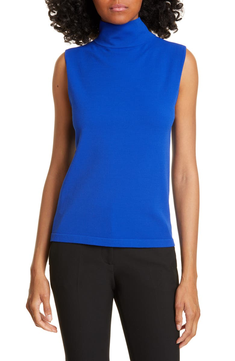 JUDITH & CHARLES Portofino Sleeveless Mock Neck Top, Main, color, 400