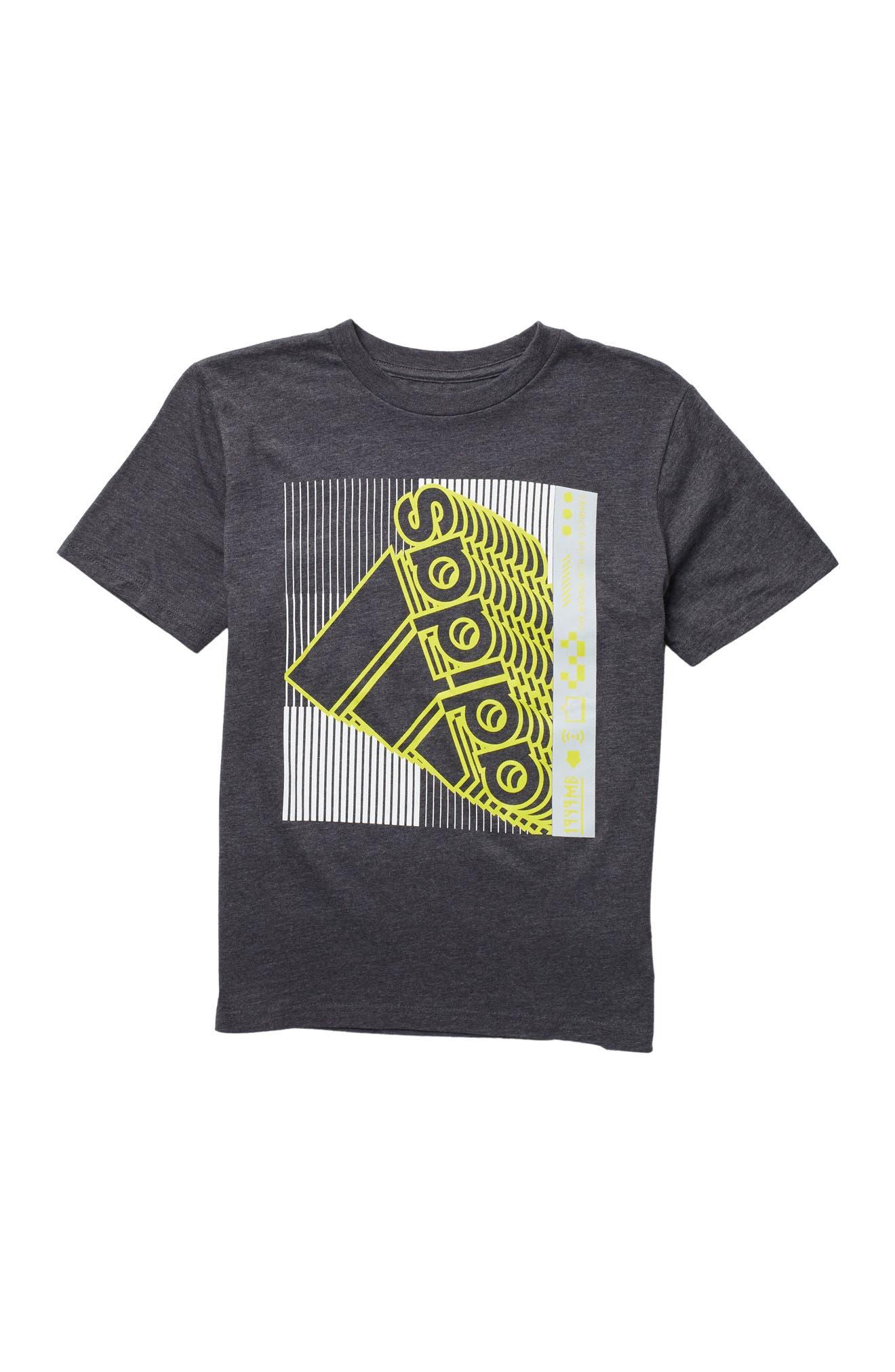 Image of adidas Logo Cotton Heather T-Shirt