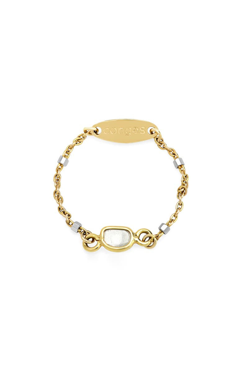 CONGÉS Sliced-Diamond Bar Chain Ring, Main, color, YELLOW GOLD