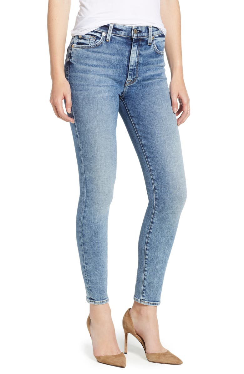 7 FOR ALL MANKIND<SUP>®</SUP> Luxe Vintage High Waist Ankle Skinny Jeans, Main, color, 400