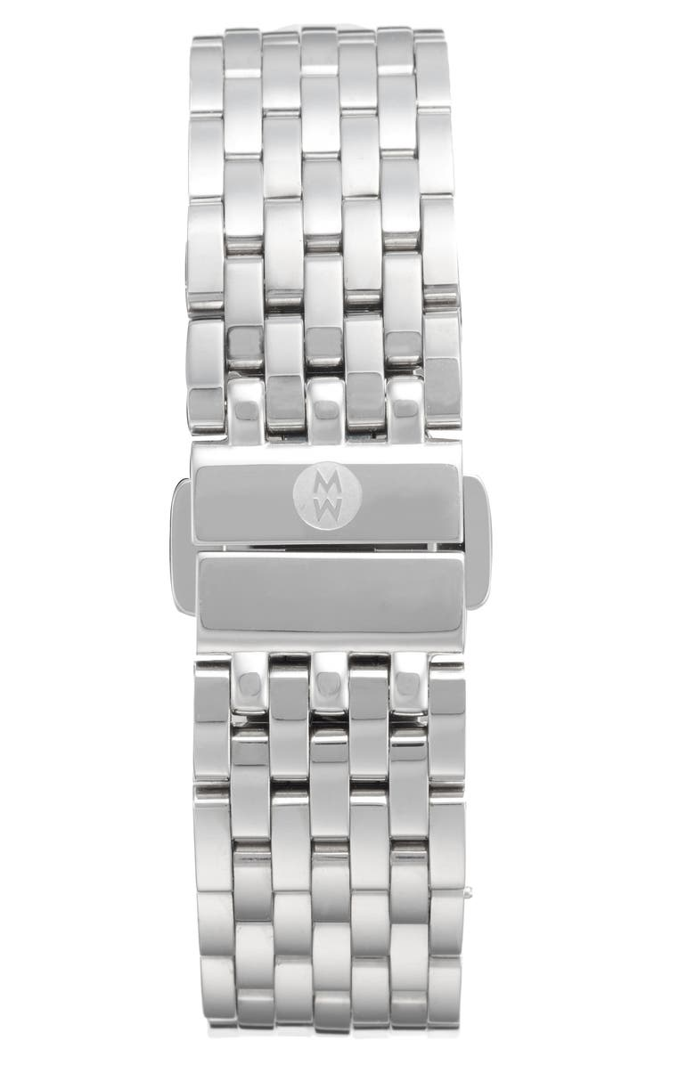 MICHELE Sidney 18mm Stainless Steel Bracelet Watch Band, Main, color, 040