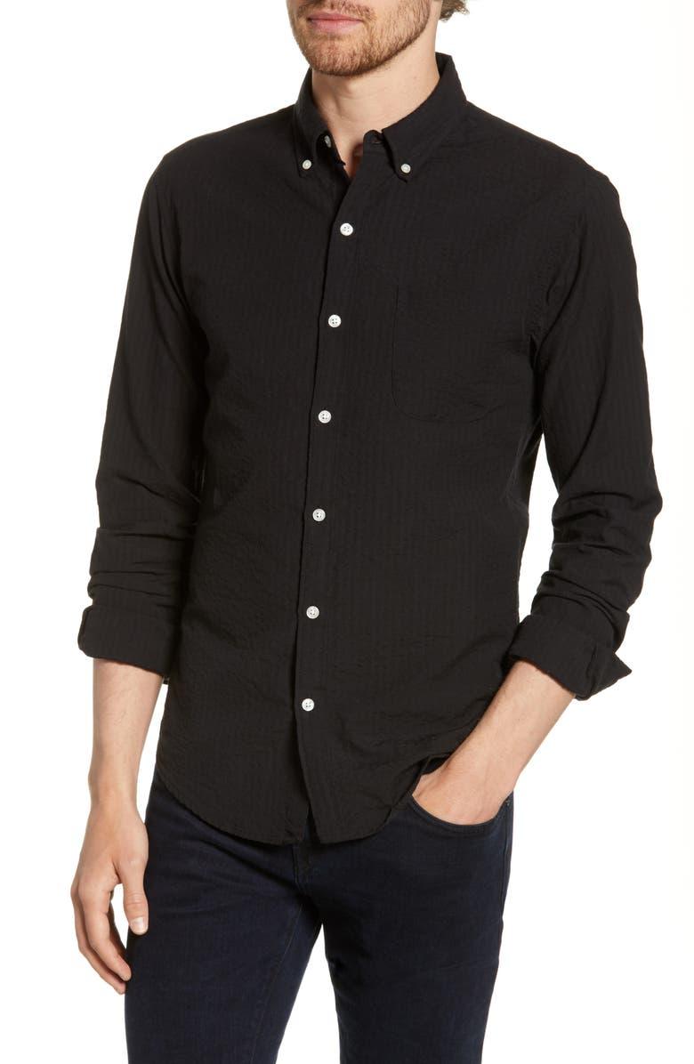 BONOBOS Summer Weight Slim Fit Shirt, Main, color, 001