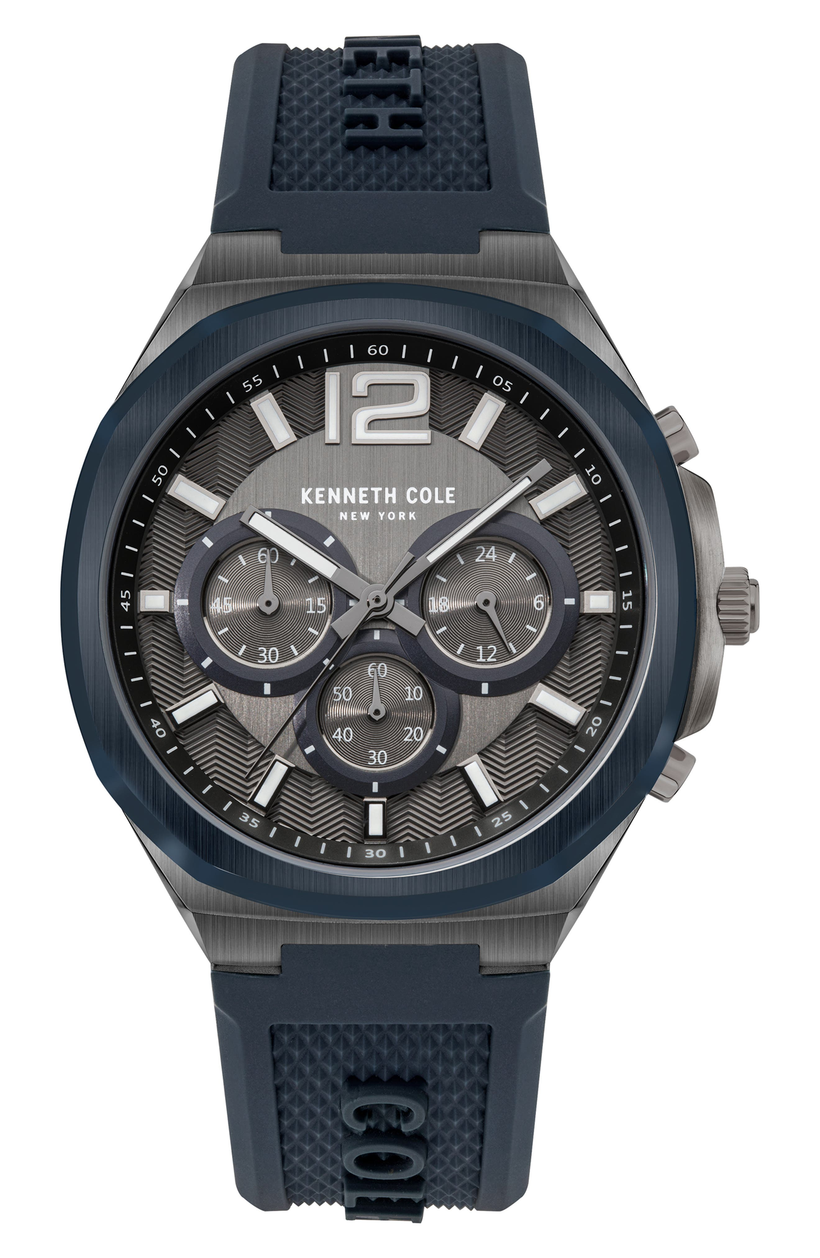 Chronograph Silicone Strap Watch