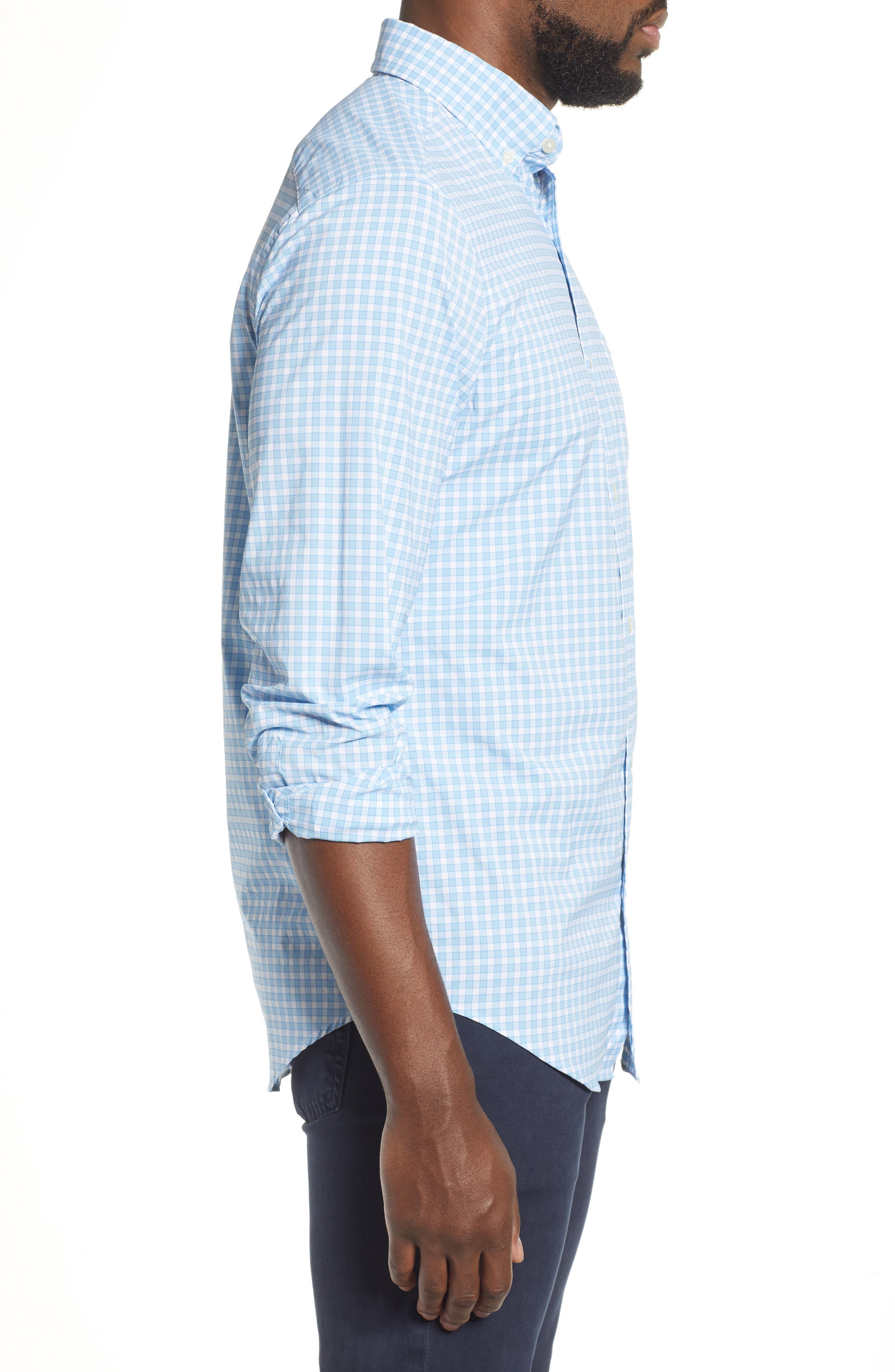 ,                             Bermuda Tucker Regular Fit Performance Sport Shirt,                             Alternate thumbnail 4, color,                             JAKE BLUE