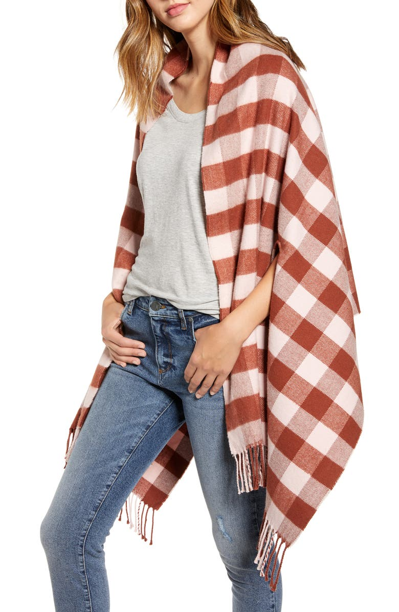 Small Buffalo Plaid Cape Scarf by Madewell