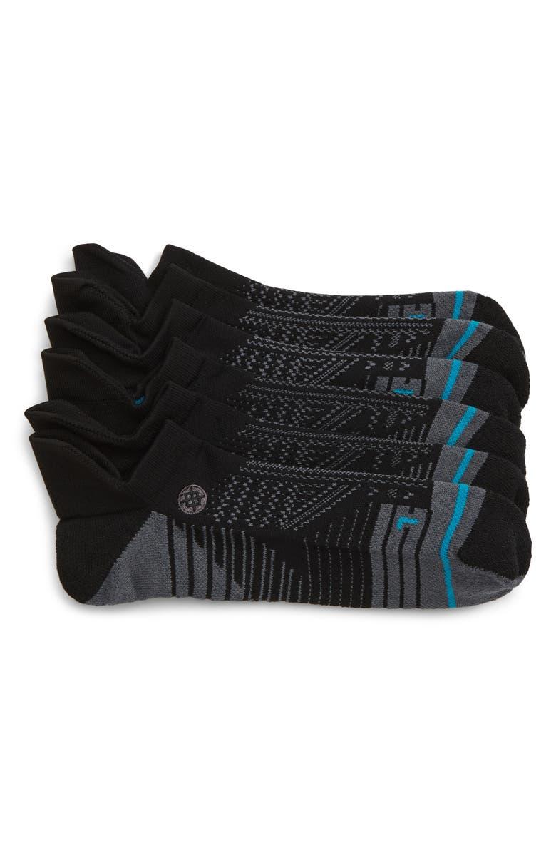 STANCE Uncommon Run Tab 3-Pack Training Socks, Main, color, BLACK