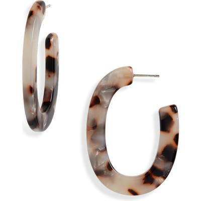 Madewell Acetate Oval Hoop Earrings