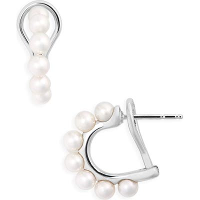 Mikimoto Single Row Pearl Earrings