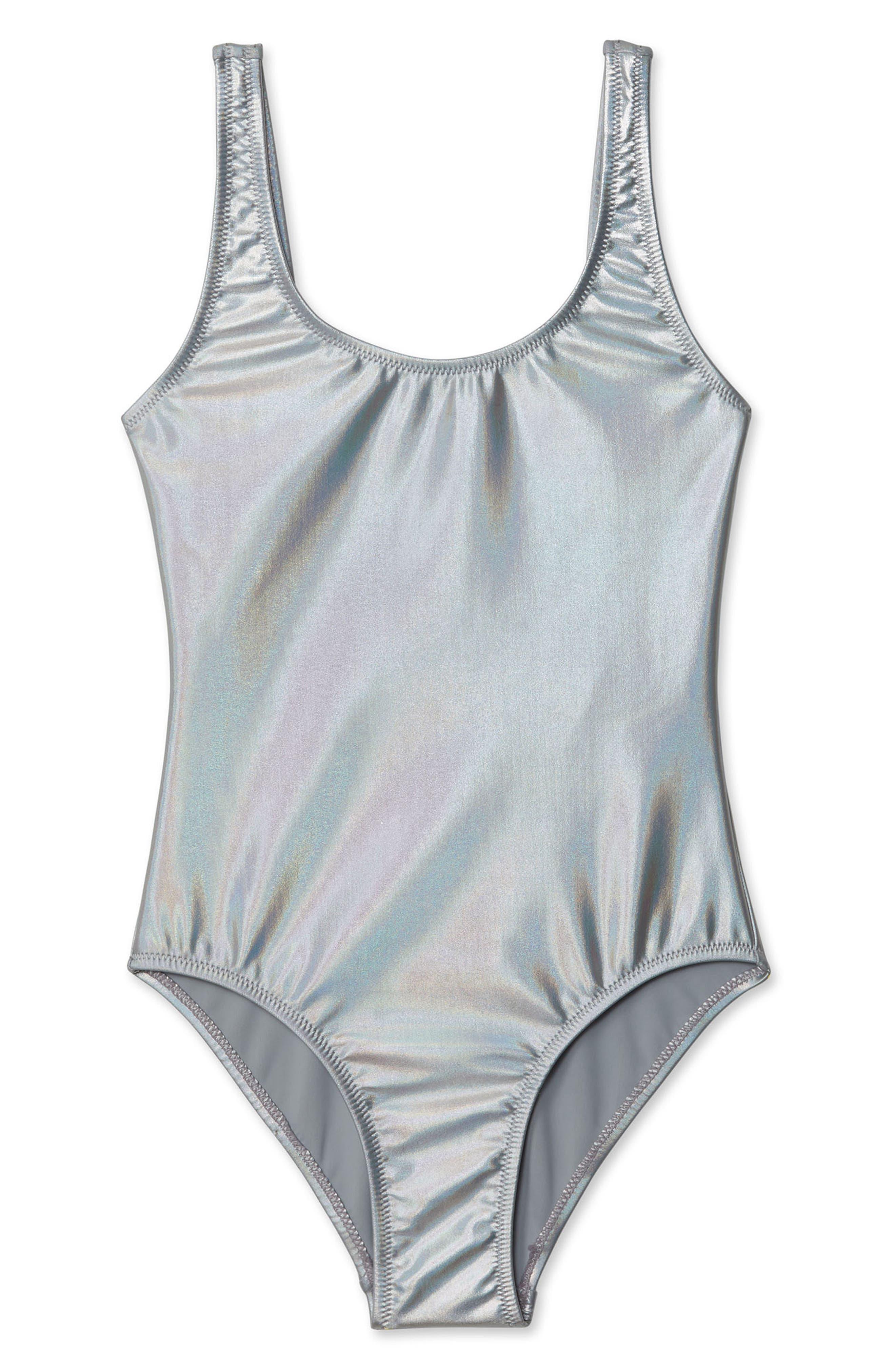 Metallic One-Piece Swimsuit, Main, color, 040