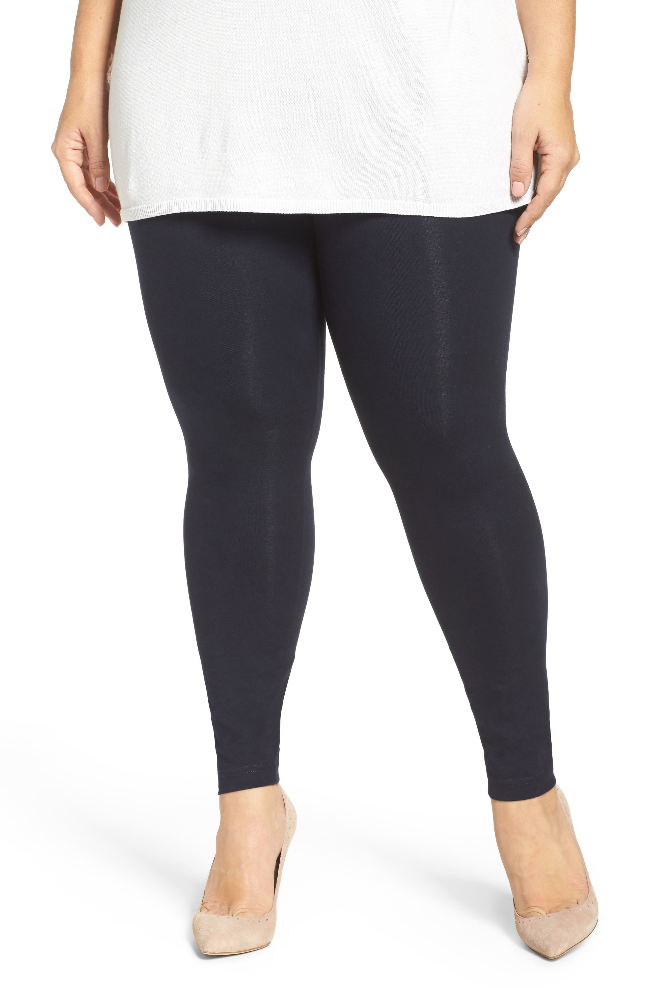 Plus Size Lysse Control Top Leggings, Blue