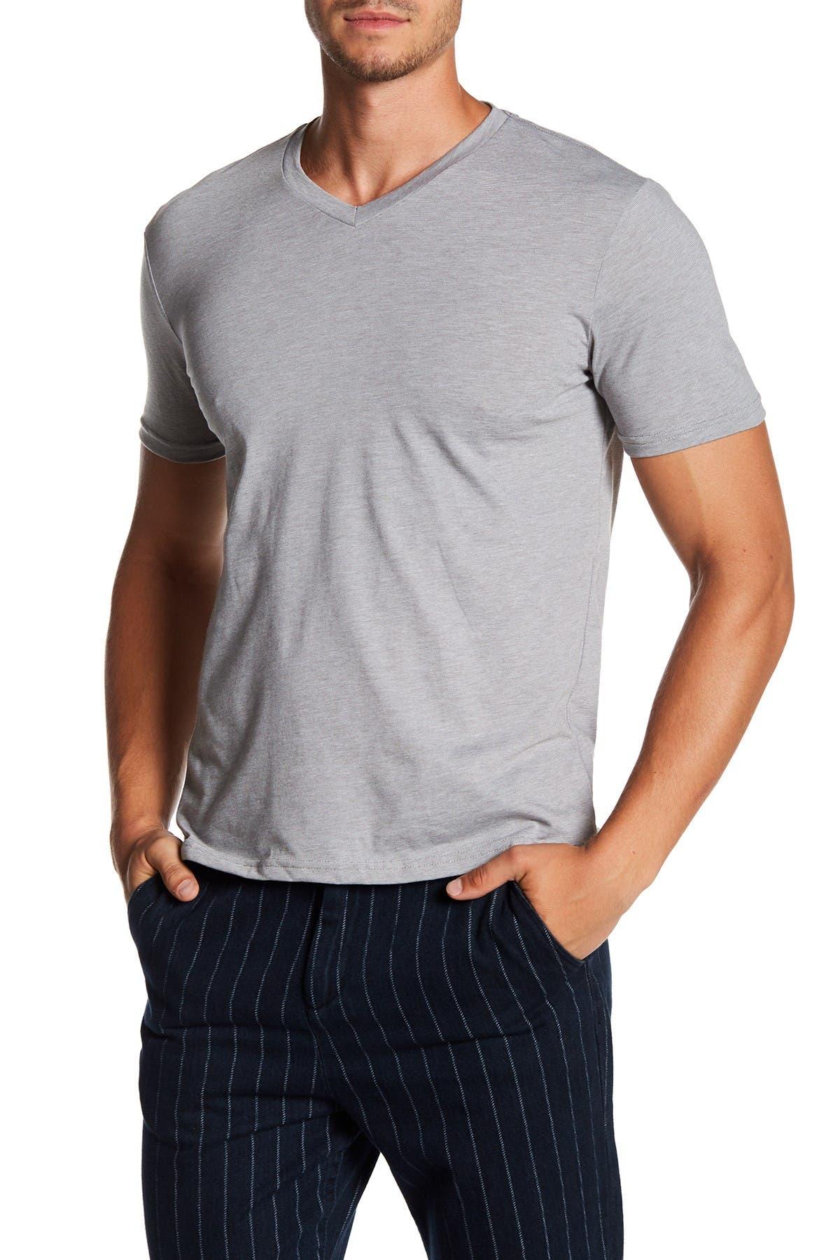 Image of Public Opinion Fineline V-Neck T-Shirt