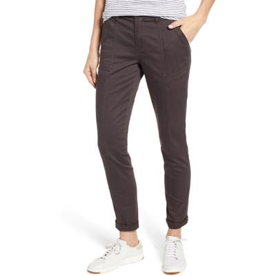 Wit & Wisdom Flex-Ellent High Waist Cargo Pants, Brown (Nordstrom Exclusive)