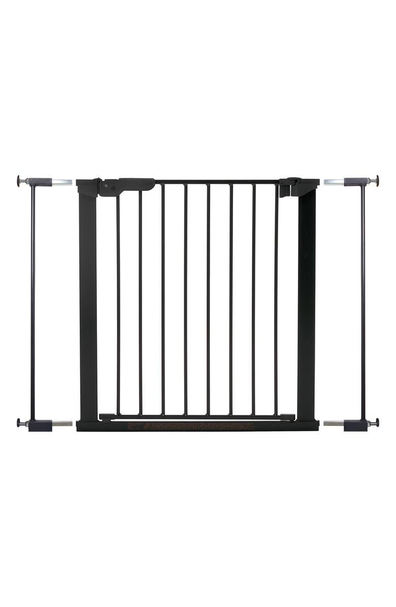 BABYDAN Premier True Pressure Fit Safety Gate, Main, color, BLACK