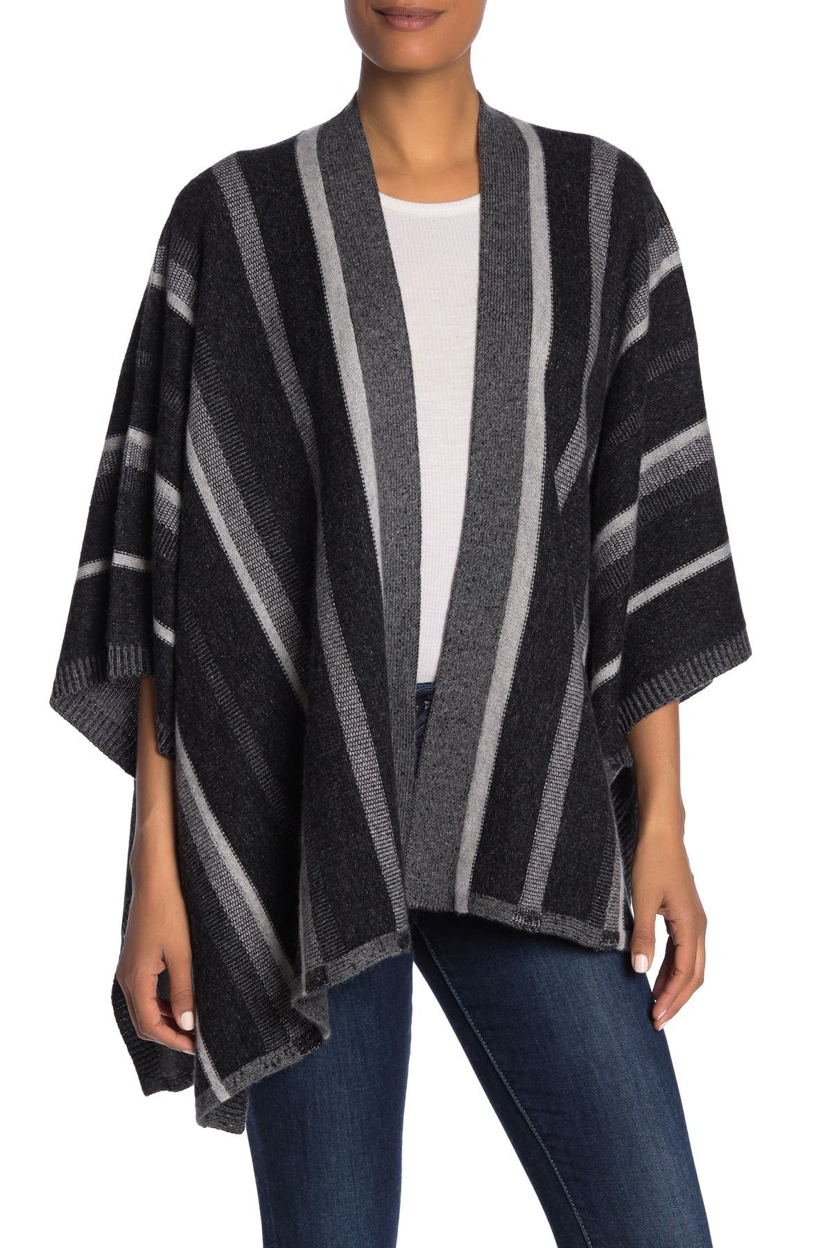Image of SKULL CASHMERE Hunter Wool & Cashmere Blend Poncho