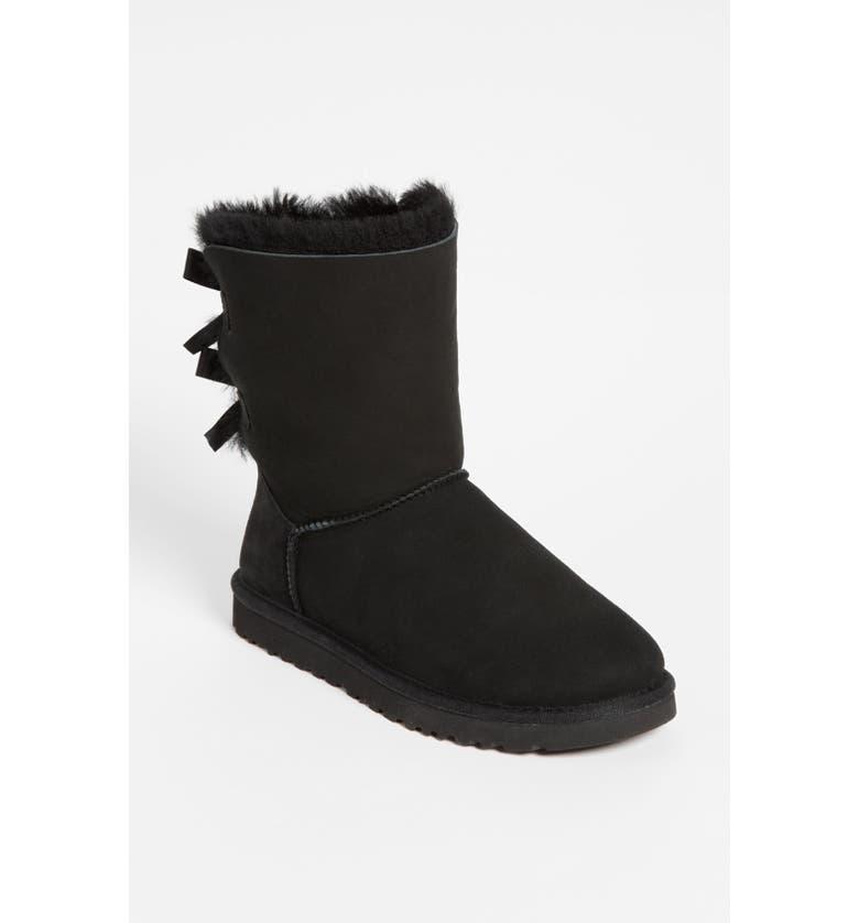 UGG<SUP>®</SUP> 'Bailey Bow' Boot, Main, color, 001