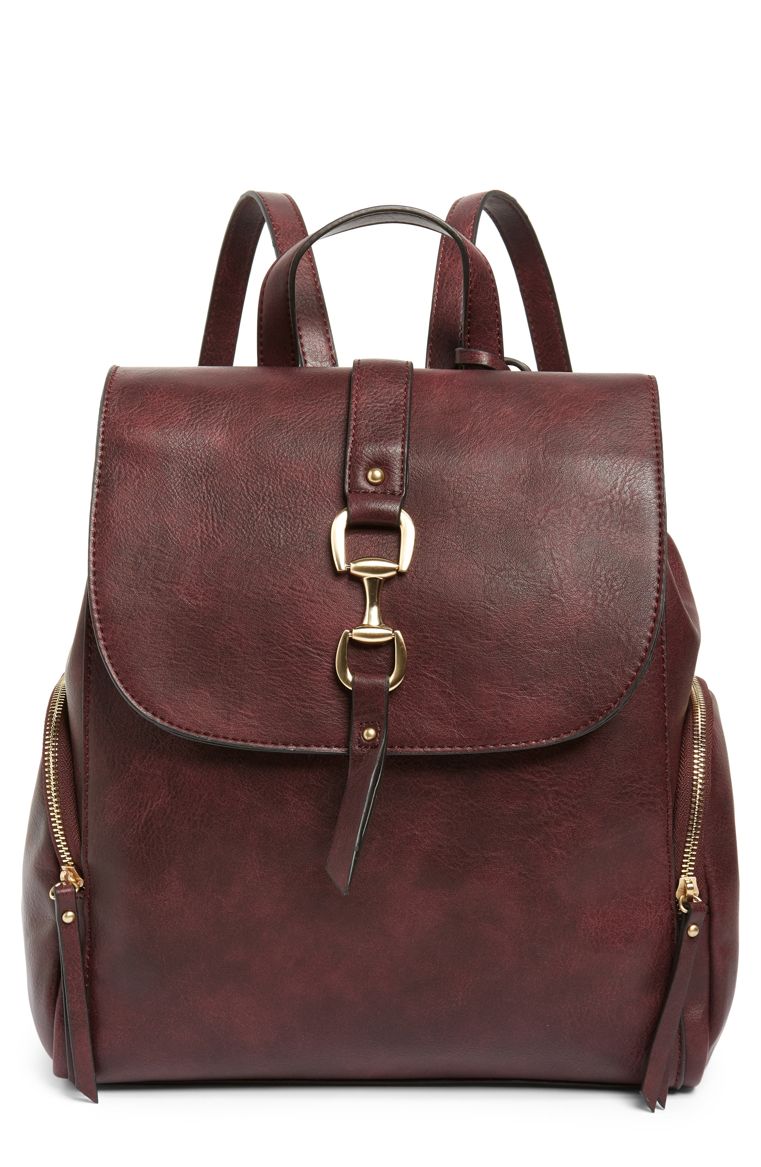 Sole Society Marah Faux Leather Backpack - Burgundy
