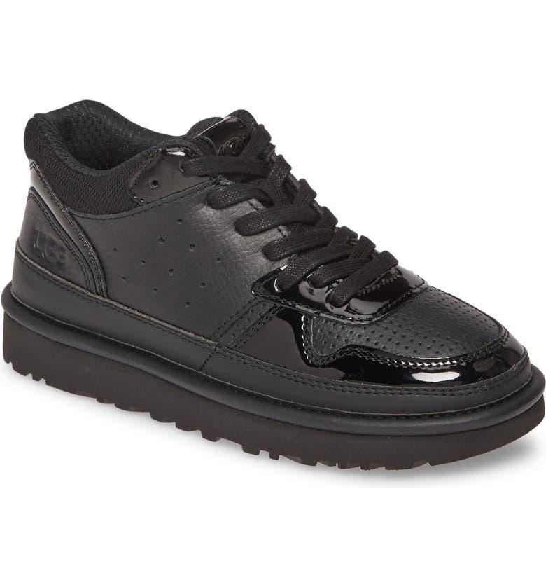 UGG<SUP>®</SUP> Highland Sneaker, Main, color, BLACK/ BLACK LEATHER