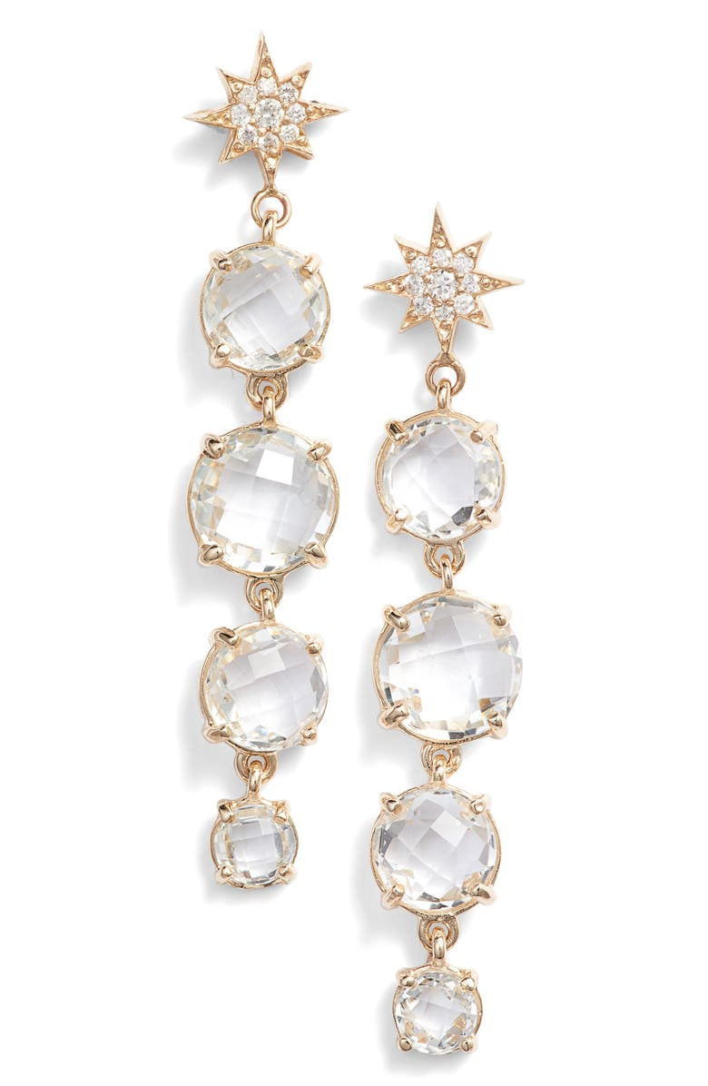 ANZIE North Star Drop Earrings, Main, color, GOLD