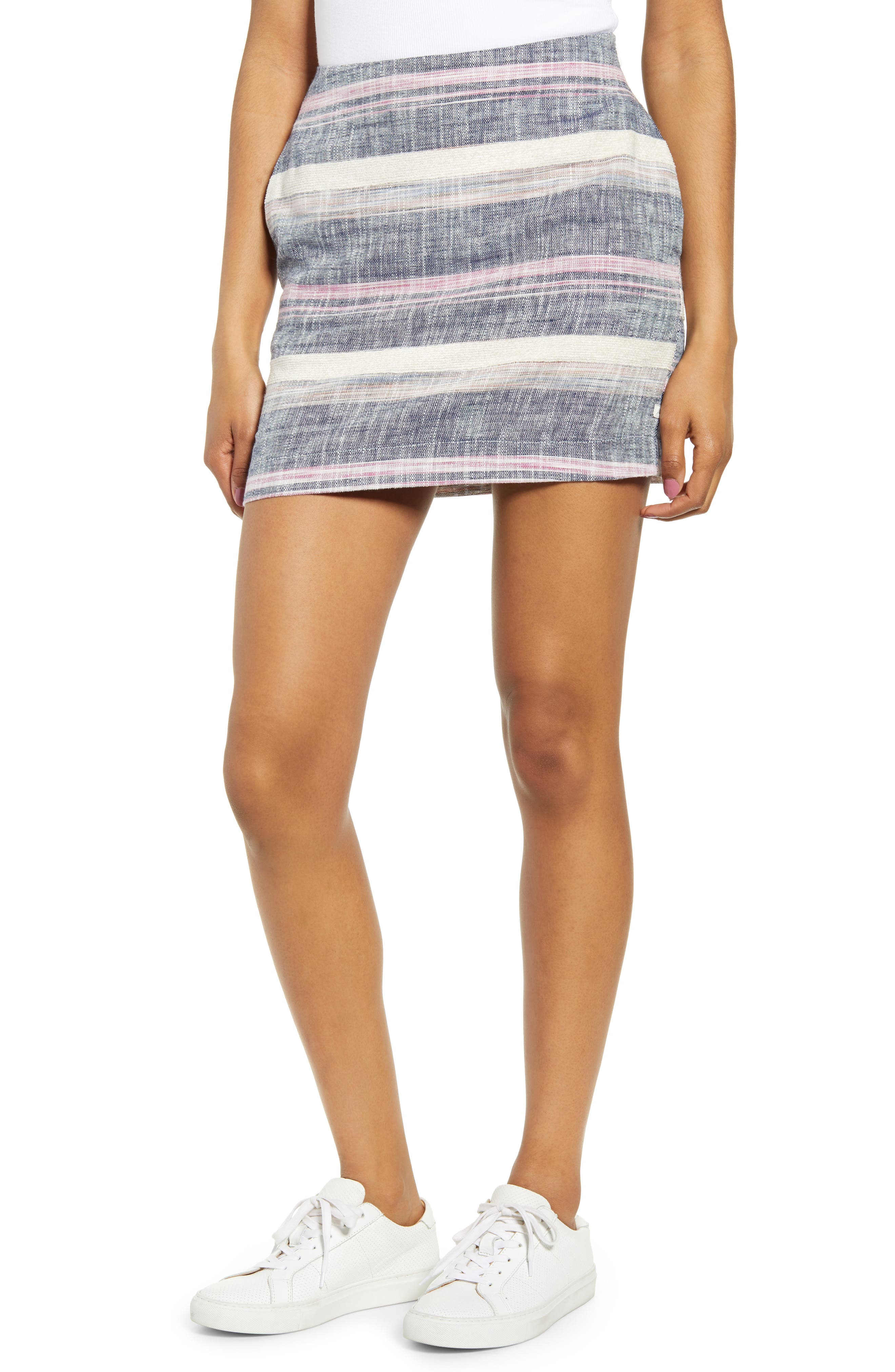 Lira Clothing Ensenada Miniskirt, Blue