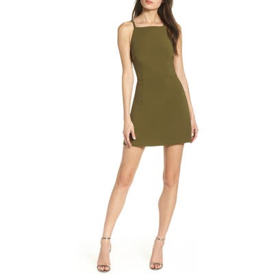 French Connection Whisper Light Sheath Minidress, Green