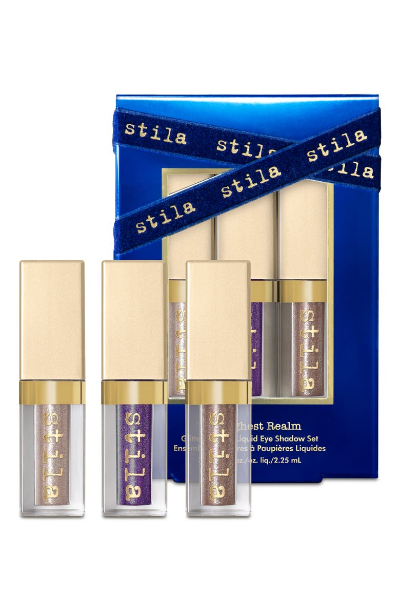 STILA Travel Size The Highest Realm Glitter & Glow Liquid Eyeshadow Set, Main, color, NO COLOR