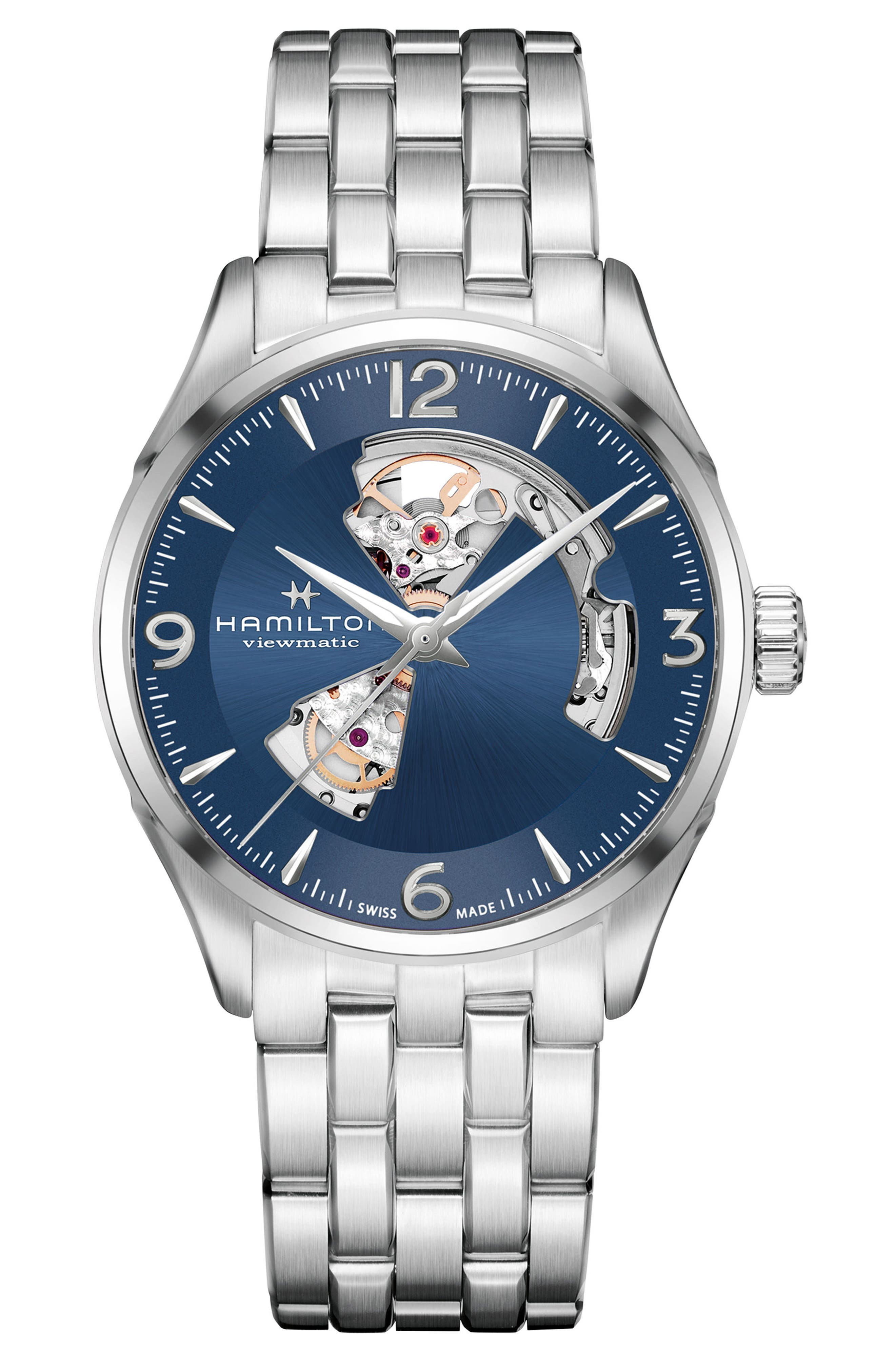 Jazzmaster Gent Open Heart Automatic Bracelet Watch